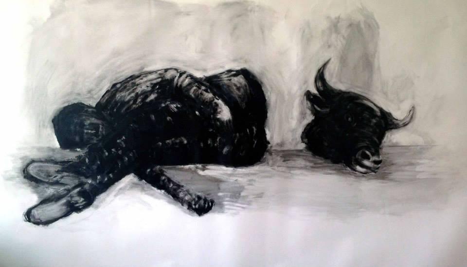 Güç ve Anafilaksi / Uyku II, 150x250 cm, Derici Kağıdı Üzerine Yağlı Boya, 2013, Eskişehir