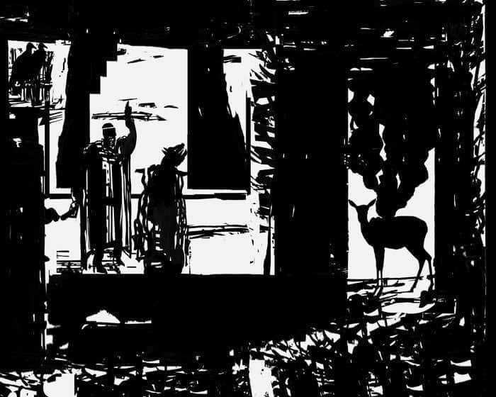 """Resim 1: Mustafa Okan, (2007). """"Temmuz Yangını"""", Tuval üzerine akrilik. 160×200 cm, Yangın Öyküleri Dizisinden."""