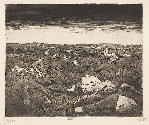 Görsel 9.Otto Dix, Evening on the Wijtschaete Plain